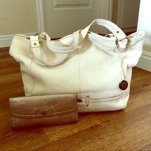 The SAK White Leather Hobo & The SAK Wallet